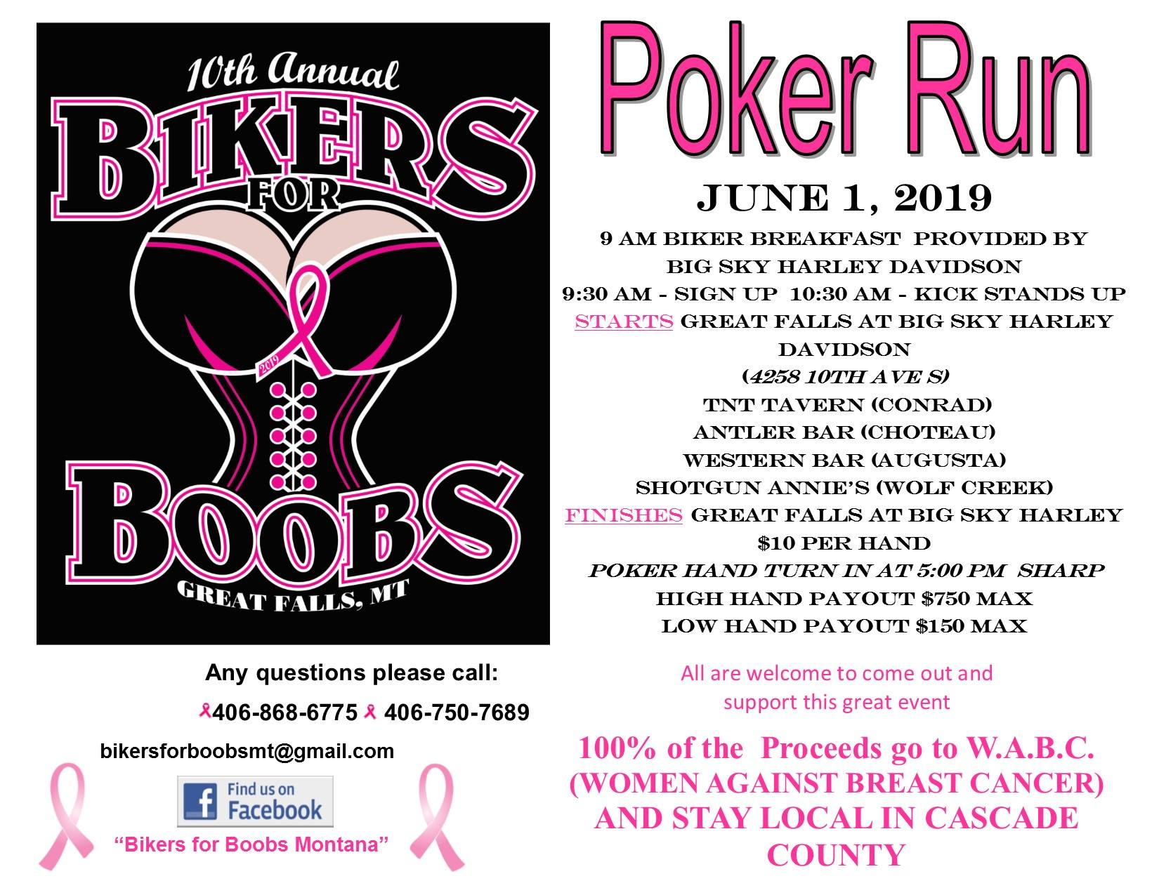 Bikders For Boobs Poker Run