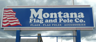 Montana Flag and Pole