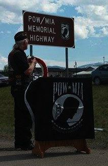 POW/MIA Memorial Highway sign