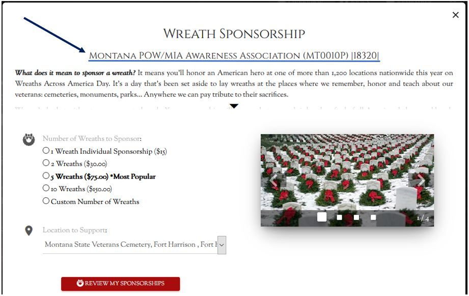 Wreaths Across America - Wreath Sponsorship Form